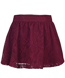 Pspeaches Elegant Skirt - Wine