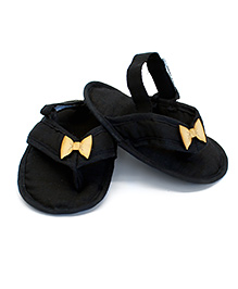 SnugOns SlipOns With Bow Motif - Black