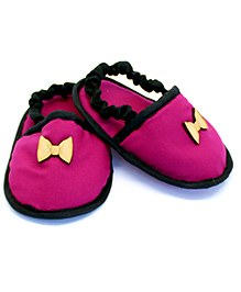 Snugons Baby Slip Ons With Bow - Pink