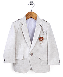 Robo Fry Full Sleeves Party Blazer - Light Grey