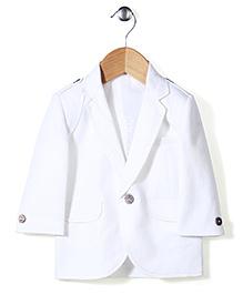 Robo Fry Full Sleeves Party Wear Blazer - White