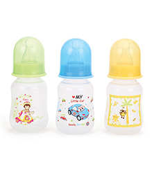 Mee Mee Premium Feeding Bottle Green Blue Yellow Pack Of 3 - 125 Ml