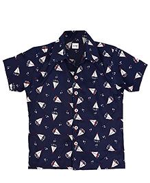 Raghav Printed Shirt - Dark Blue