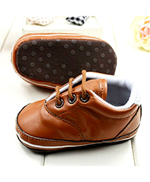 Wow Kiddos Soft Leather Sneakers - Brown