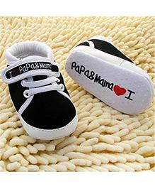 Wow Kiddos Soft Bottom Canvas Sneakers - Black & White