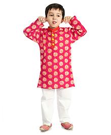 Little Pockets Store Kurta & Pajama Set - Pink