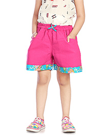 Little Pockets Store Plum Summer Shorts - Pink