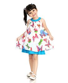 Little Pockets Store Bling Butterfly Dress - White