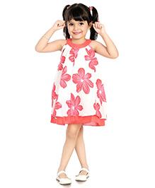 Little Pockets Store Flower Print Dress - Pink