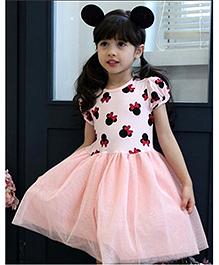 Superfie Bow & Glitters Dress - Pink