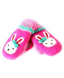 Princess Cart Rabbit Gloves - Hot Pink