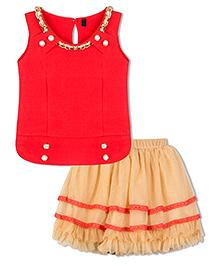 Stupa Fashion Tutu Skirt & Top Set  - Red