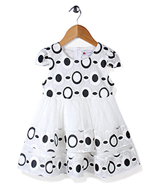 Adores Round Print Dress - Blue & White