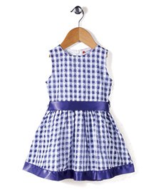 Adores Checkered Print Dress - Blue