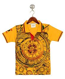 Tonyboy Printed Polo T-Shirt - Yellow