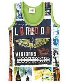Tonyboy Printed Vest - Green