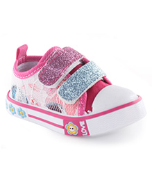 Cute Walk by Babyhug Floral Printed Casual Shoes - Fuchsia Pink