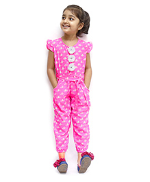 D'chica Stylish Jumpsuit With Tie Up - Pink