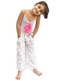 D'chica Floral Print Jumpsuit - Multicolour