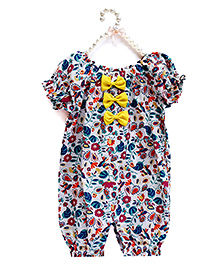 D'chica Soft & Chic Romper For Girls - Multicolour
