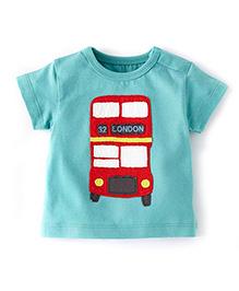 Petite Kids T-Shirt In Patch Work - Aqua