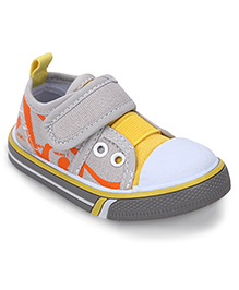 Cute Walk by Babyhug Casual Shoes - Yellow And Grey