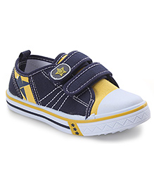 Cute Walk by Babyhug Casual Shoes Star Smiley Patch - Navy And Yellow