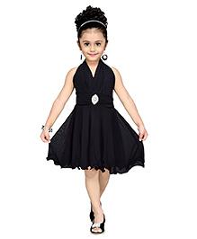 Aarika Layered Party Dress - Black
