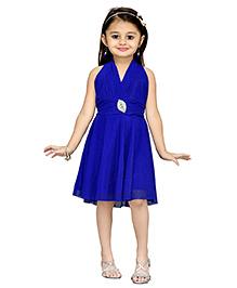 Aarika Layered Party Dress - Blue