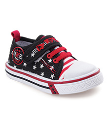 Cute Walk by Babyhug Canvas Shoes Star Print - Black