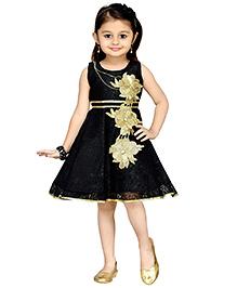 Aarika Girl's Empire Waist Dress - Black