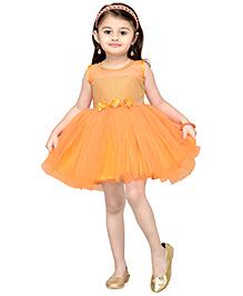 Aarika Girl's Empire Waist Dress - Orange