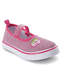 Cute Walk by Babyhug Canvas Shoes Strawberry Print - Pink