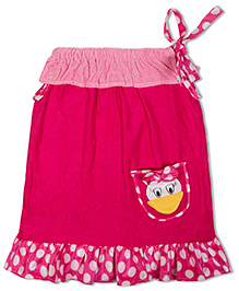 Thought Counts 3D Duck Swim Dress - Pink