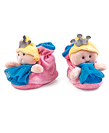 Thought Counts New Born Booties - Pink
