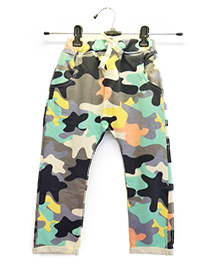 Funtoosh Kidswear Color Splash Unisex Pants - Multicolour