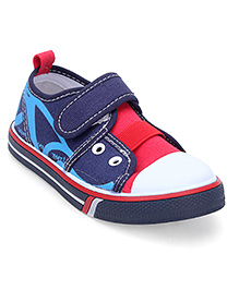 Cute Walk by Babyhug Canvas Shoes - Navy Blue & Red
