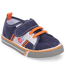 Cute Walk by Babyhug Canvas Shoes -  Navy Blue & Grey