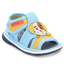 Cute Walk by Babyhug Sandals Puppy Face - Blue