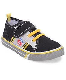 Cute Walk by Babyhug Canvas Shoes -  Black & Grey