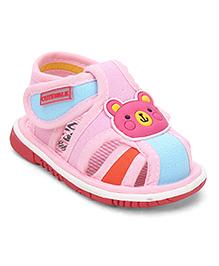 Cute Walk by Babyhug Sandals Bear Patch - Pink