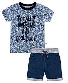 Raine And Jaine Boys Tee & Shorts Set - Blue