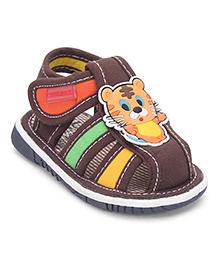Cute Walk by Babyhug Sandals Kitty Patch - Dark Brown
