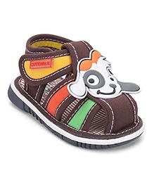 Cute Walk by Babyhug Sandals Puppy Design - Coffee Brown