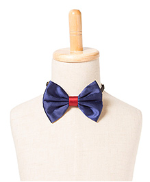 Brown Bows Satin Butterfly Bow Tie - Blue