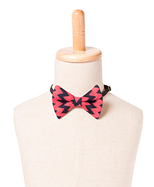 Brown Bows Viscose Butterfly Bow Tie Chevron Print - Pink and Blue
