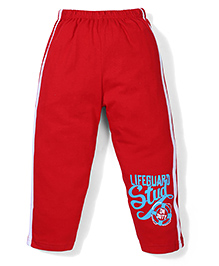 Taeko Track Pant Lifeguard Stud Print - Red
