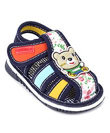 Cute Walk by Babyhug Sandals Bear Patch - Dark Blue