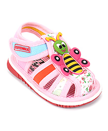Cute Walk by Babyhug Sandals Honeybee Patch - Pink