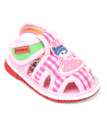 Cute Walk by Babyhug With Bunny & Checks Print - Pink